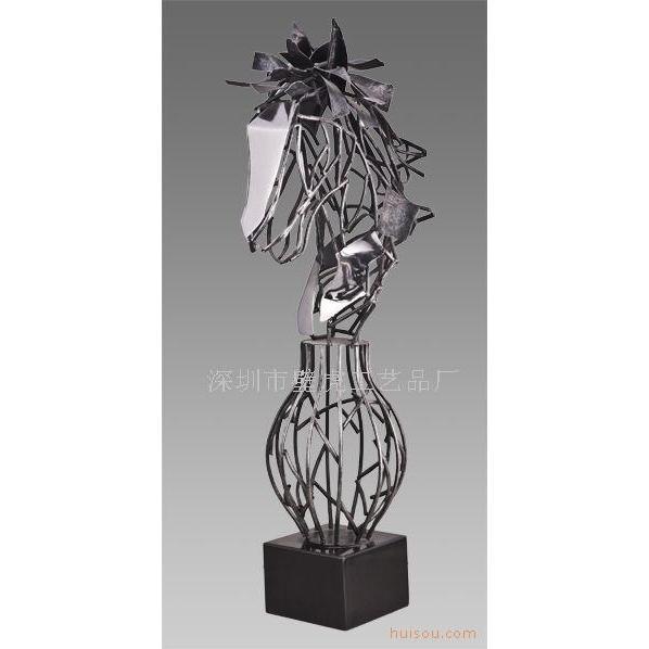 深圳不锈钢雕塑厂汉服金属摆件-玻璃
