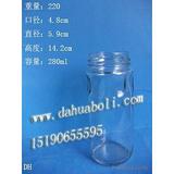 280ml黄桃罐头瓶 酱菜瓶 蜂蜜瓶