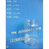 340ml六角蜂蜜瓶 燕窝瓶 罐头瓶 酱菜瓶