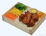 厂价直销195规格木质快餐盒,木质便当盒,木制快餐盒,木制便当盒