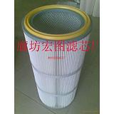 过滤碳粉用高精密覆膜粉尘滤芯,除尘滤芯