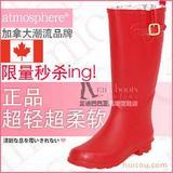 外贸欧美韩国日本女时尚新款大红色中高筒雨鞋雨靴水鞋套鞋胶鞋