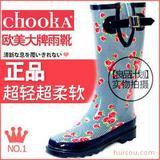 chooka欧美日本外贸时尚碎花波点雨鞋雨靴女士雨鞋雨靴套鞋水鞋