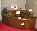 豪华原木双人按摩实木浴缸进口柚木精工制作