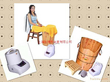 上海香柏木蒸汽足浴桶,中药熏蒸舒筋活络,货到付款全国包邮