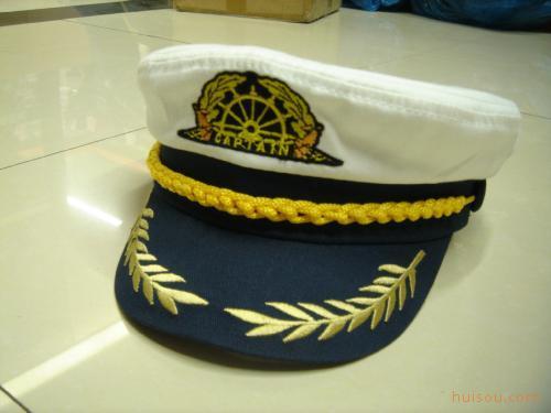 供应外贸海军帽 俄罗斯船长帽 全棉绣花 军帽 水手帽 帽子