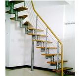 厂家直销钢木楼梯 旋转楼梯 钢板楼梯 双梁楼梯(可来图订做)