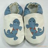 婴儿软底鞋-蓝色壁虎