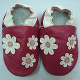 婴儿软底鞋-桃红三朵花