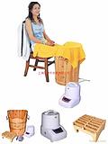 蒸好家用蒸汽足浴桶,中药熏蒸舒筋活络,冬季养生健康首选