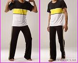 舜王2011瑜伽服 男款瑜伽短袖+长裤套装