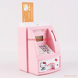 偷钱猫存钱罐、hello kitty atm机 大卡取款机