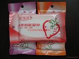 湿巾洁肤湿巾10片水果洁肤润肤水刺布柔湿巾草莓味批发