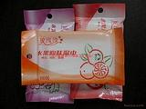 湿巾洁肤湿巾10片水果洁肤润肤水刺布柔湿巾香橙味批发
