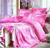 浪漫花语(粉色) 恒源祥床上用品套装