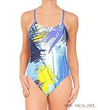 女子训练泳装,高弹经编印花泳装,女子塑身泳装