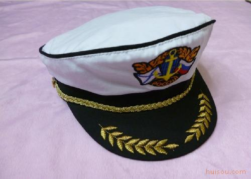 厂家直销外贸海军帽 船长帽 徽章绣花水手帽 军帽 帽子