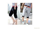 2011新款 男士 宽松型双腰休闲运动七分裤
