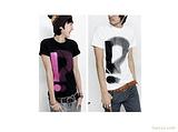 2011夏热卖 韩版修身 问号印花 短袖男士T恤