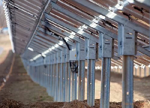 钢结构太阳能大棚施工现场照片