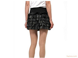 衣人领秀 新款真皮皮裤 真皮皮裙 女士真皮花边裙子短裤