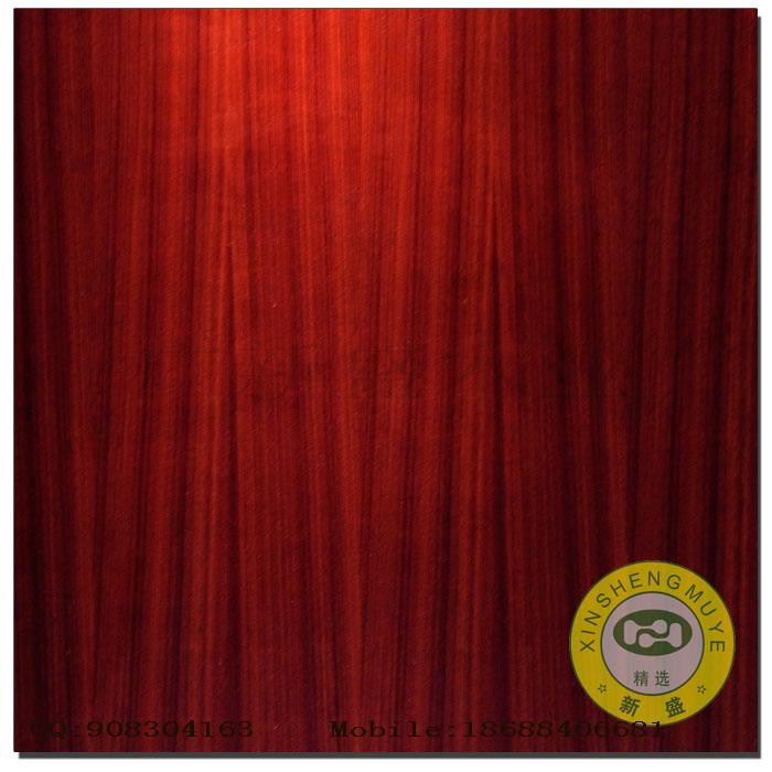 【广新盛】天然红酸枝/沉香木直纹饰面板-贴面板
