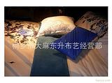 莎鲨家纺正品采用台湾冷转移印花+高难度跳针绣花(银粉图案