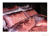 莎鲨家纺正品德国真丝欧式卷草花图案奢华享受(酒红·浅紫红两色