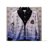 童装 长袖T恤男童装假两件针织衬衫领B-002