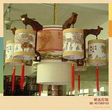 酒店羊皮吊灯、酒店羊皮壁灯、酒店非标羊皮灯、羊皮工程灯