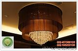 纱布罩水晶吊灯|酒店高档水晶吊灯|非标水晶吊灯|布艺水晶吊灯