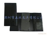 定做真皮三折支票夹,订做礼品卡片包,重庆定做票据夹