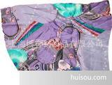 个性雪纺丝巾围巾印花、多花型数量少采用数码印花