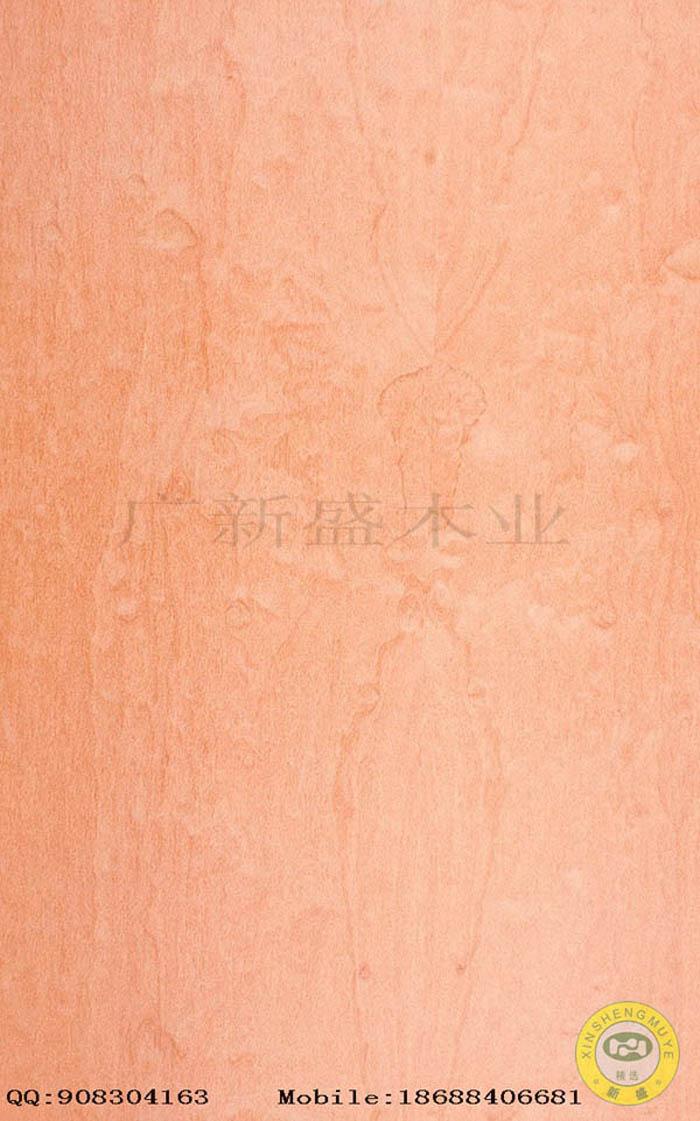 【广新盛】天然麦哥梨球纹原木木皮饰面板-贴面板