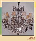 酒店大堂灯|奢华干邑色水晶蜡烛灯|烟灰色水晶蜡烛灯|彩色水晶灯