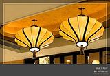 品牌中式灯|布艺激光雕花吸顶灯|拉丝罩吊灯|中式酒店布艺吊灯