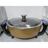 韩式电热锅、电火锅、涮烤王圆锅(黄色)