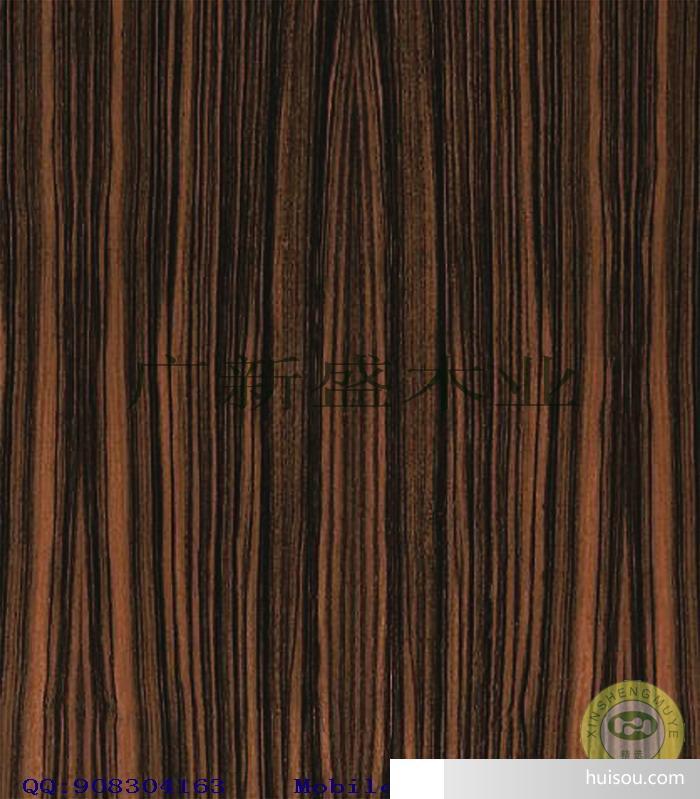 【广新盛】天然黑檀直纹原木木皮饰面板-贴面板