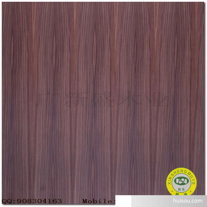 【广新盛】现货饰面板-紫檀木直纹饰