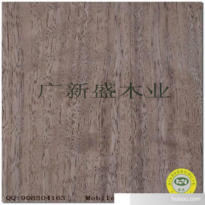 【广新盛】天然有影直纹黑胡桃木皮饰面胶合板