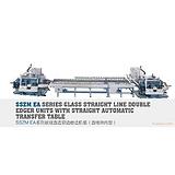 苏州德众玻璃机械 专业生产供应各种规格型号 玻璃直边双边磨边机组(直线转向型)