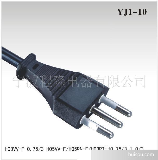 【厂家供应】电源线橡胶线 欧标橡胶线插头 延长橡胶线