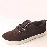 韩版时尚系带男式磨砂皮反绒皮日常运动休闲皮鞋真皮板鞋