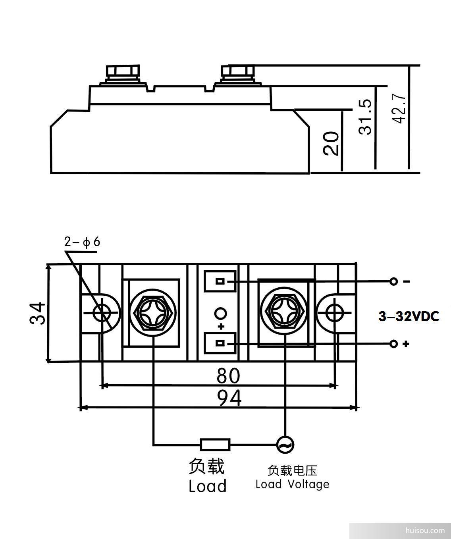 五. 固态继电器产品选用注意事项: 选择产品时,应根据负载的性质不同,在电流档次上留有不同的余量。(阻性负载时,可按2-3倍负载电流选取。感性或容性负载时,可按3-5 倍负载电流选取)。 根据负载电流与环境温度的关系,当环境温度较高或散热条件欠佳时。应增加电流容量。为防使用时负载短路,要求在负载回路中串接与本产品相应的快速断路开关或快速熔断器。 感性负载时,应在输出端并接压敏电阻,以防过压时损坏晶闸管。压敏电阻(MOV)的选配:240V档时选430-470V,440V档时选680-750V, 660