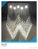 楼梯灯,楼梯现代水晶灯,楼梯间吊灯,楼梯水晶灯,楼梯灯定制