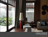样板房中式落地灯,中式台灯,酒店别墅中式客房灯