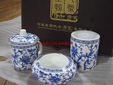 中山陶瓷办公礼品、珠海青花瓷笔筒套装