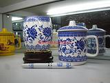 青花瓷办公套装、珠海陶瓷礼品、珠海瓷器套装