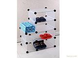 新款DIY自由组合 4格衣柜收纳柜 置物架储物柜整理柜箱 塑料抽屉