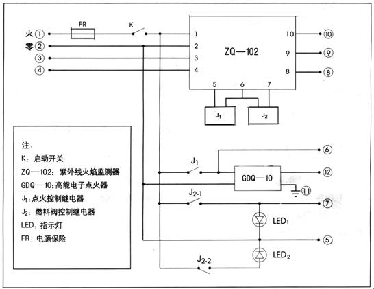rsq-3燃烧控制器及接线图